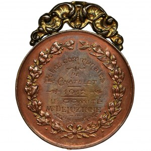 Belgia, Król Albert, Medal z grawerunkiem 1912