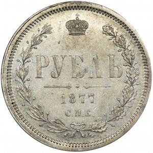 Rosja, Aleksander II, Rubel Petersburg 1877 СПБ НI