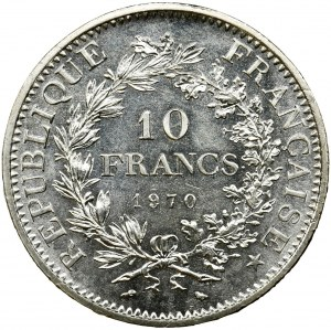 France, V Republic, 10 Francs Paris 1970