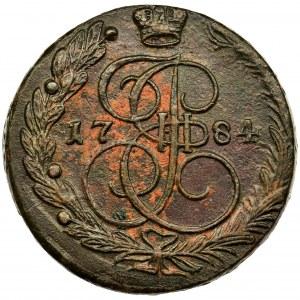 Rosja, Katarzyna II , 5 Kopiejek Jekaterinburg 1784 EM - bardzo ładna
