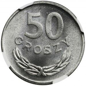 50 groszy 1957 - NGC MS66