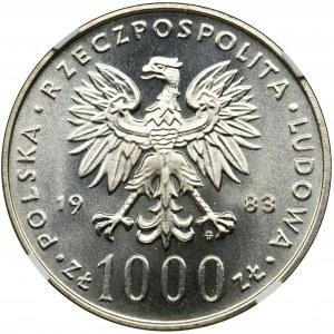 1.000 złotych 1983 Jan Paweł II - NGC MS65