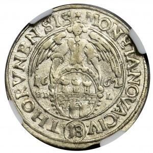 John II Casimir, 1/4 Thaler Thorn 1662 HDL - NGC MS62