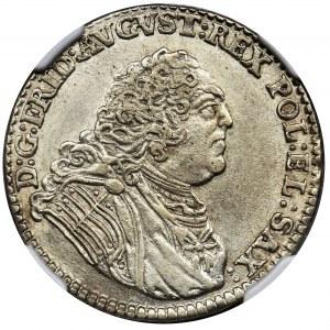 August III Sas, 1/6 Talara (złotówka) Drezno 1763 FWôF - NGC MS62