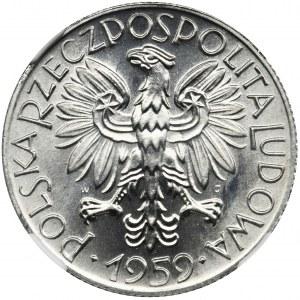 5 złotych 1959 Rybak - NGC MS67