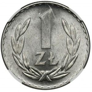 1 złoty 1949 Aluminium - NGC MS66