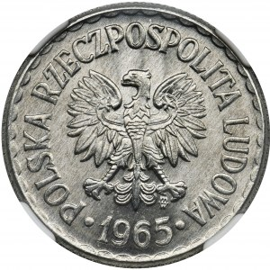 1 złoty 1965 - NGC MS67