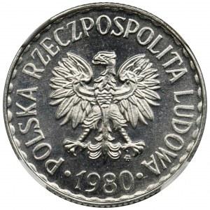1 złoty 1980 - NGC MS66