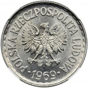 1 złoty 1969 - NGC MS65