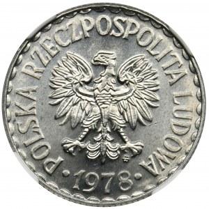 1 złoty 1978 - NGC MS66