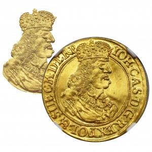 Jan II Kazimierz, Dukat Gdańsk 1660 DL - NGC MS62 - RZADKIE POPIERSIE