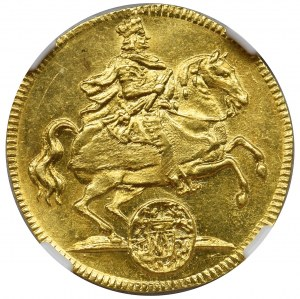 August II the Strong, Ducat Dresden 1711 - NGC MS63
