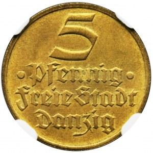 Free City of Danzig, 5 pfennig 1932 - NGC MS65