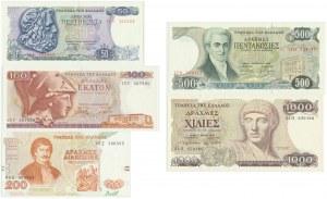 Greece, Set of 50 - 1.000 drachms 1978-96 (5pcs.)