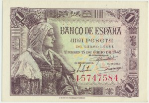 Spain, 1 peseta 1945