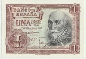 Spain, 1 peseta 1953