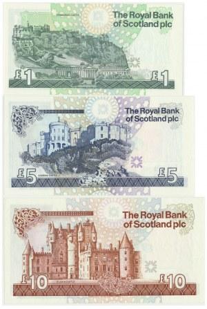 Scotland, Set of 1-10 pounds 1994-2000 (3 szt.)