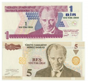 Turkey, Set of 1-5 lirs 2005 (2 pcs.)