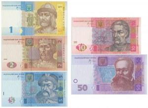 Ukraine, Set of 1-50 hryvna 2005-06 (5 pcs.)