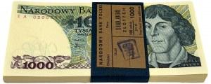Paczka bankowa 1.000 złotych 1982 - EA - 100 złotych
