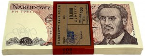 Paczka bankowa 100 złotych 1988 - RM - 100 sztuk