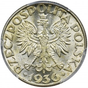 Żaglowiec, 2 złote 1936 - PCGS MS63