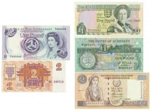 Set of European banknotes (5pcs.)