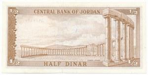 Jordan, 1/2 dinar 1959