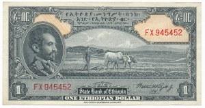 Ethiopia, 1 dolar (1945)