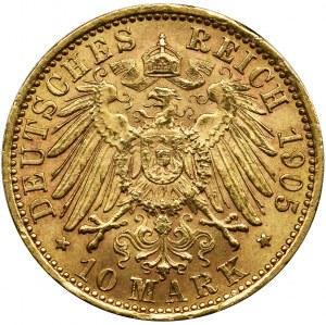 Niemcy, Królestwo Prus, Wilhelm II, 10 Marek Berlin 1905 A