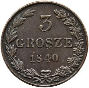 3 groschen Warsaw 1840 MW