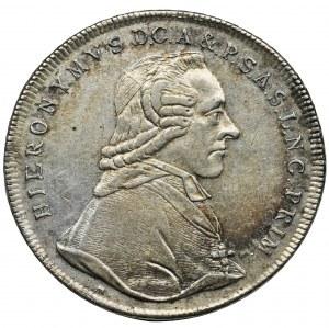 Austria, Archbishopric of Salzburg, Hieronymus, Thaler Salzburg 1799 M