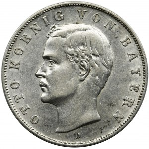 Germany, Bavaria, Otto, 3 Mark Munich 1910 D