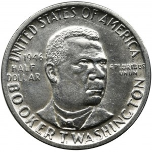 USA, 1/2 Dollar Philadelphia 1946 - Booker Taliferro Washington