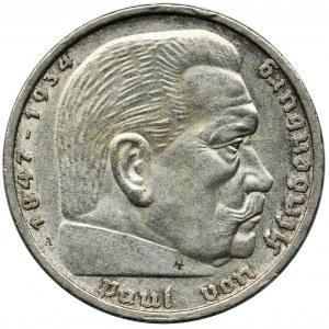 Germany, Third Reich, 5 Mark Berlin 1935 A - Hindenburg