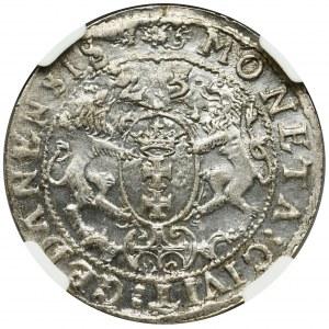 Sigismund III Vasa, 1/4 Thaler Danzig 1625 - NGC MS62 - P: