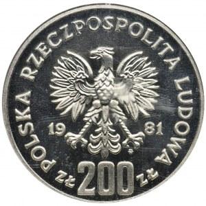 PRÓBA NIKIEL, 200 złotych 1981 Bolesław Śmiały - NGC PF66 CAMEO