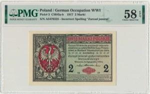 2 marki 1916 Jenerał - A - PMG 58 EPQ - fenomenalna świeżość druku