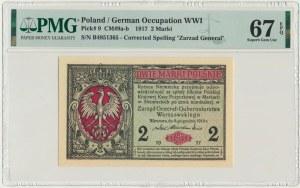 2 marki 1916 Generał - B - PMG 67 EPQ - OKAZOWY