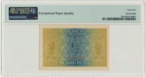 1/2 marki 1916 Jenerał - A - PMG 65 EPQ - numerator czerwony