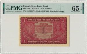 1 marka 1919 - I Serja O - PMG 65 EPQ