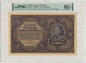 1.000 marek 1919 - III Serja AA - PMG 65 EPQ - pierwsza seria