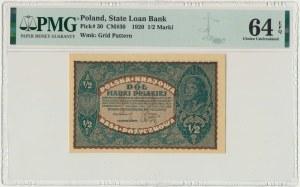 1/2 marki 1920 - PMG 64 EPQ