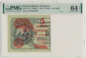 5 groszy 1924 - lewa połowa - PMG 64 EPQ