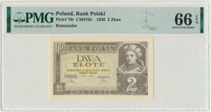 2 złote 1936 - bez oznaczenia serii - PMG 66 EPQ