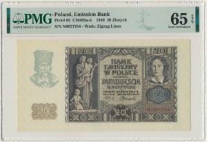 20 złotych 1940 - N - PMG 65 EPQ