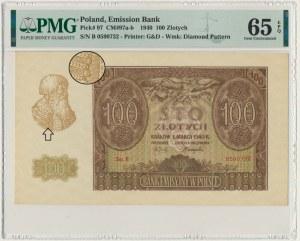 100 złotych 1940 - B - PMG 65 EPQ - ORYGINALNA SERIA - RZADKA