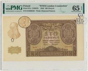 100 złotych 1940 ZWZ - B - PMG 65 EPQ - Kolekcja Lucow