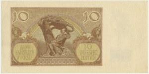 10 złotych 1940 - bez serii - z innym znakiem wodnym - DUŻA RZADKOŚĆ