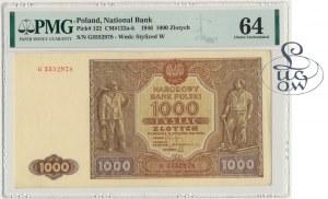 1.000 złotych 1946 - G - PMG 64 - Kolekcja Lucow